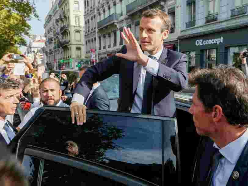 Les fonctionnaires français ont organisé 140 manifestations en même temps pour freiner les projets d'Emmanuel Macron
