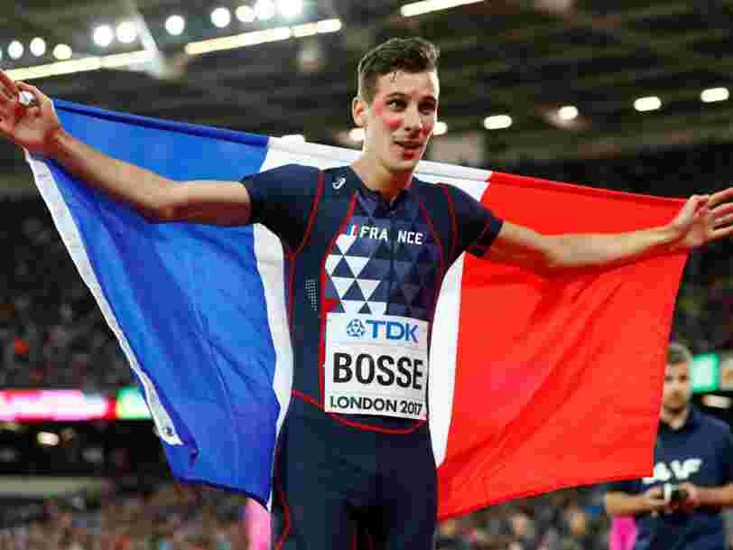 Regardez le Français champion du monde du 800 mètres pitcher sa startup rivale de Tinder en anglais à VivaTech