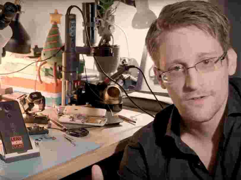Edward Snowden a créé une appli qui transforme les smartphones en systèmes de sécurité pour échapper aux espions