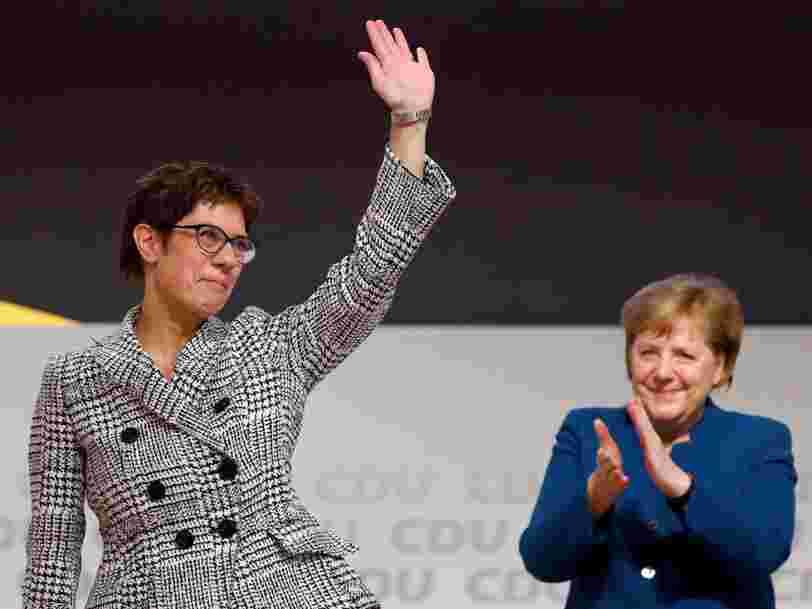 'Mini-Merkel' a été élue à la tête du parti conservateur allemand CDU — elle sera en pole position pour devenir la prochaine chancelière