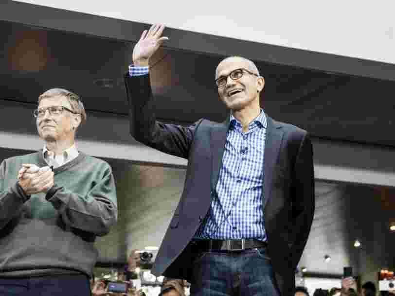 C'est officiel: Microsoft vaut plus que Google en bourse et ce n'était pas arrivé depuis 2015