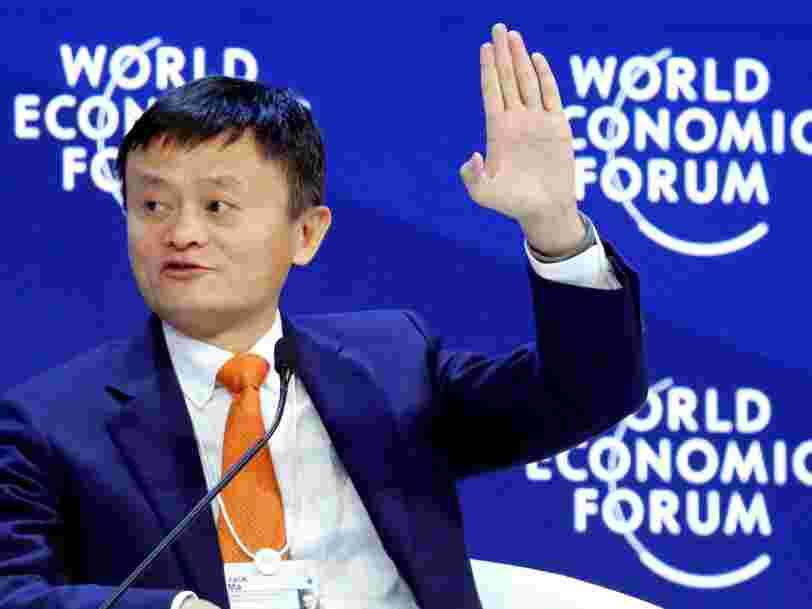 Le patron du numéro 1 chinois de la vente en ligne lance un avertissement à la veille de l'arrivée de Donald Trump à Davos