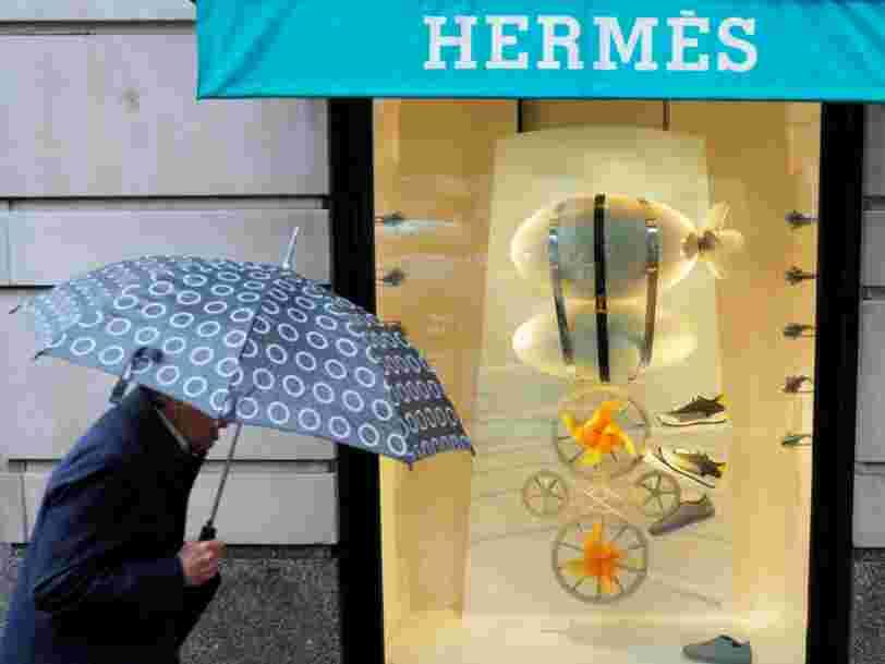 Hermès publie des résultats meilleurs qu'attendus mais fait moins bien que 2 autres géants du luxe