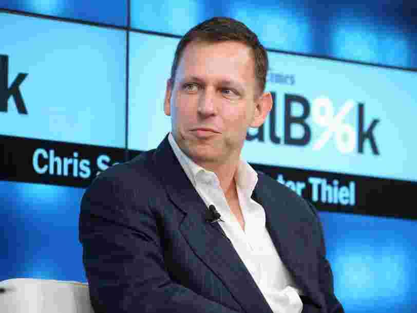 Peter Thiel: 'Il n'y a pas d'entreprises tech réussies en Europe'