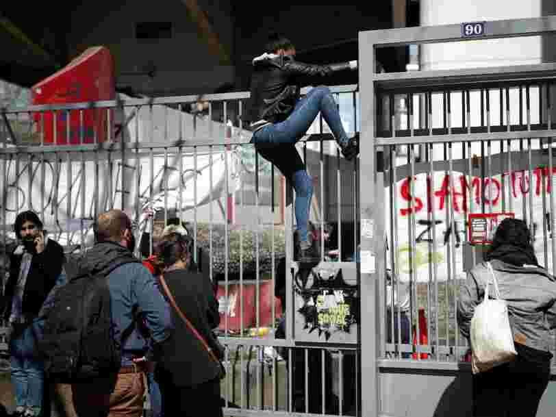 La police a évacué les étudiants qui occupaient le site universitaire de Tolbiac à Paris