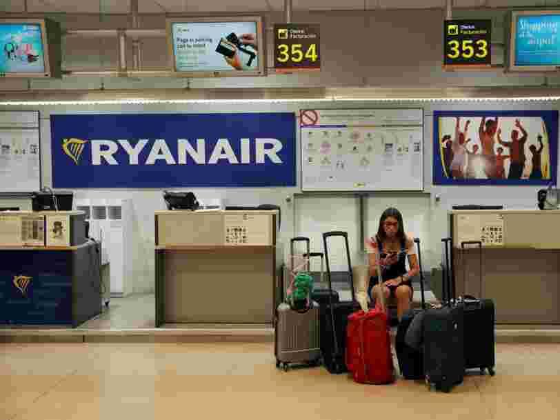 Une grève chez Ryanair perturbe les déplacements de 100.000 passagers dans toute l'Europe