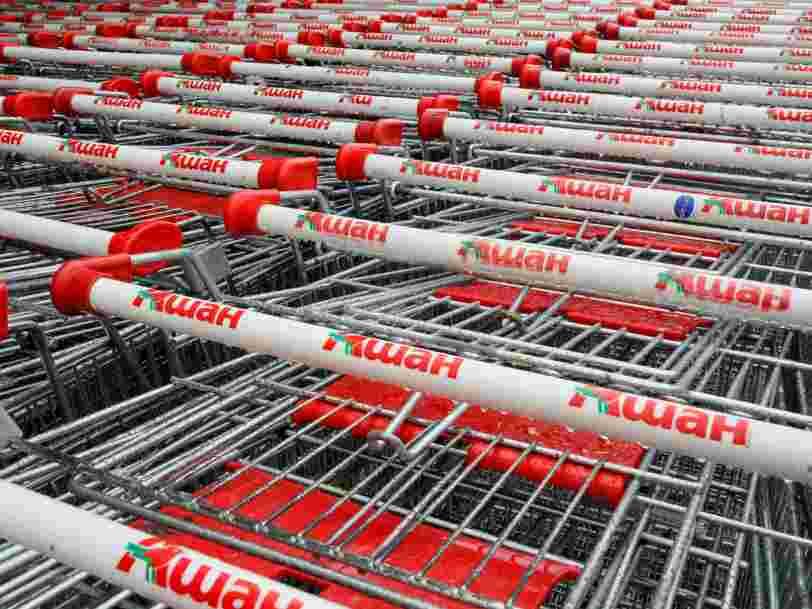 Les ventes d'Auchan en France reculent pour la quatrième année consécutive