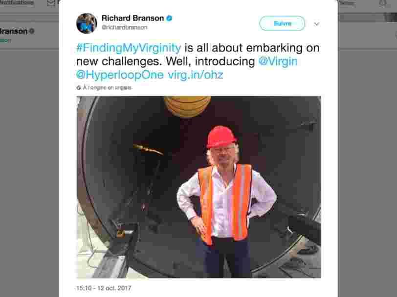 Hyperloop One prend le nom du groupe Virgin après que Richard Branson a investi dans le projet fou de tunnel à grande vitesse