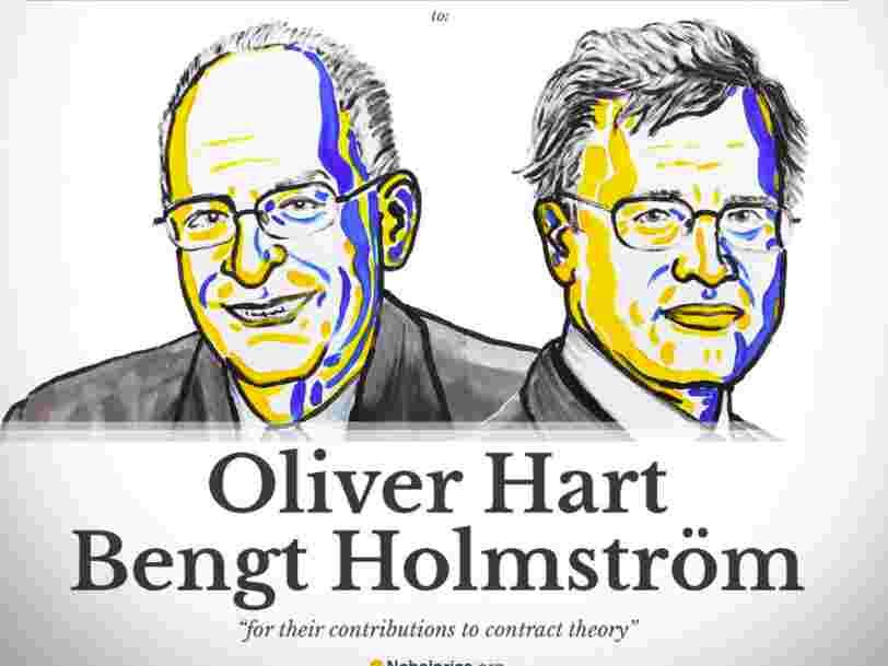 Oliver Hart et Bengt Holmström ont gagné le Prix Nobel d'économie 2016