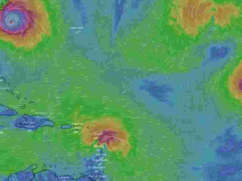 Les Antilles françaises s'apprêtent à être frappées par la tempête tropicale Isaac 1 an après les ravages de l'ouragan Irma