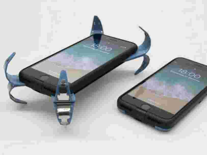 Un étudiant allemand a inventé un airbag pour votre téléphone: une coque qui détecte les chutes et déploie des ressorts pour éviter les chocs