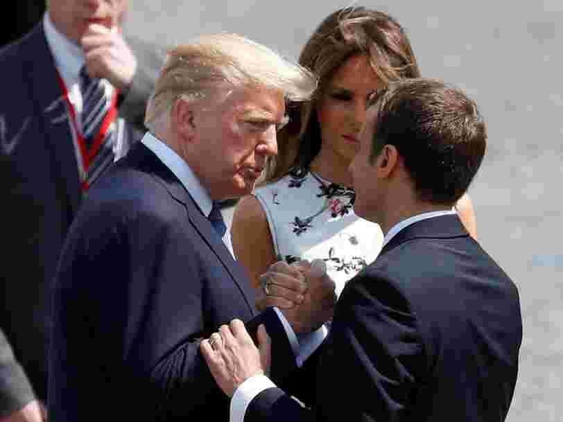 'SUPER TOP': Donald Trump raconte ce qui l'a marqué lors de sa première visite officielle en France