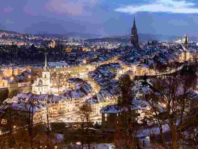 Cette superbe ville suisse est le lieu le plus Instagrammé en hiver
