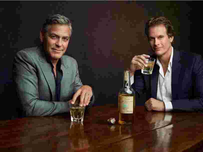 L'entreprise de tequila que George Clooney avait lancée par accident vient d'être rachetée pour 1Md$