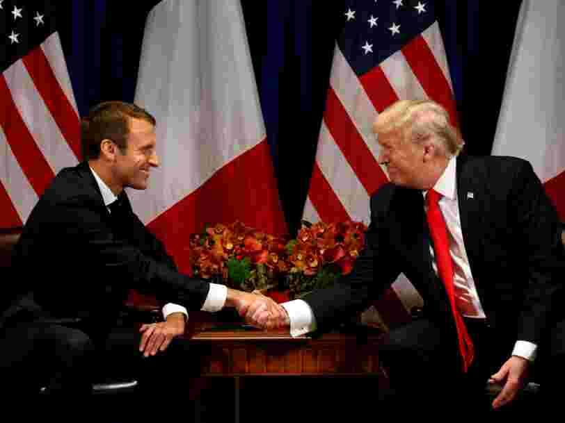 Emmanuel Macron débute une visite d'Etat de 3 jours à Washington — voici son programme