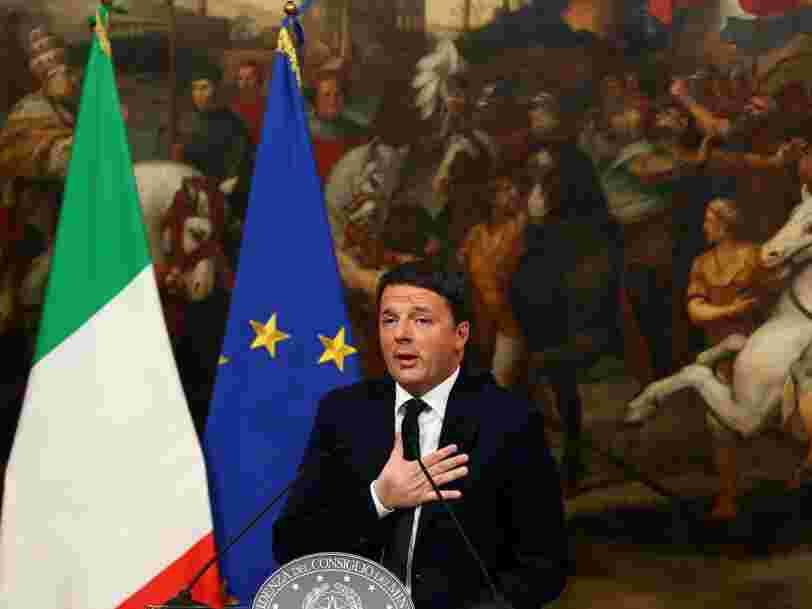 Le Premier ministre italien démissionne après sa nette défaite au référendum
