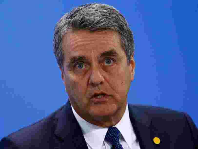 Le patron de l'OMC dit que le commerce international est face à un 'dilemme' qui commence à peser sur l'économie mondiale