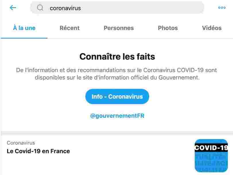 Coronavirus : comment Facebook, Google, Twitter et TikTok tentent de lutter contre les fausses informations