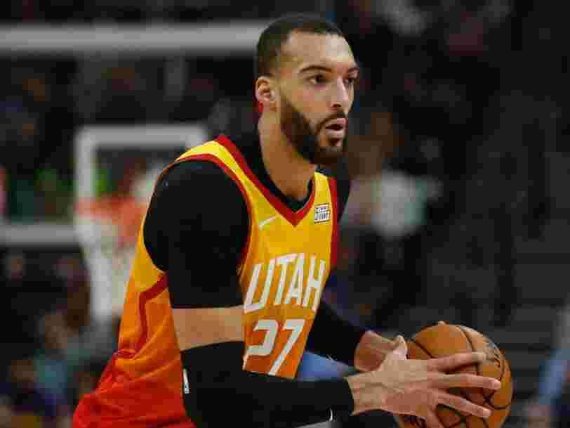 Le basketteur Français Rudy Gobert a le coronavirus, la NBA suspend la saison