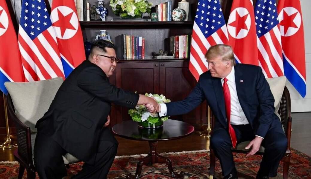 7. Donald Trump et Kim jong-un se rencontrent à Singapour