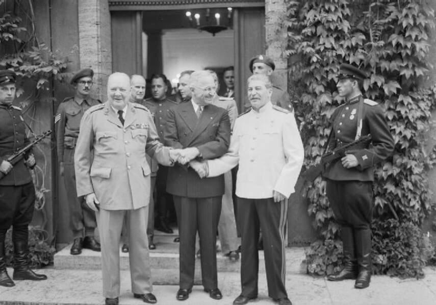 2. Churchill, Staline et Truman : les « Trois Grands » de Potsdam