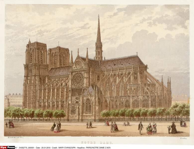 Notre-Dame en 1870