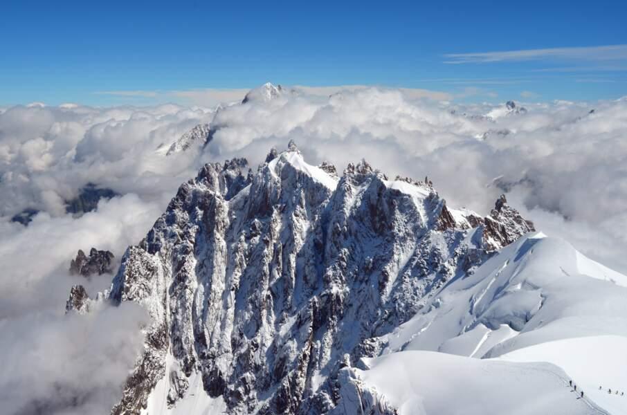 Vue aérienne du Mont Blanc, France