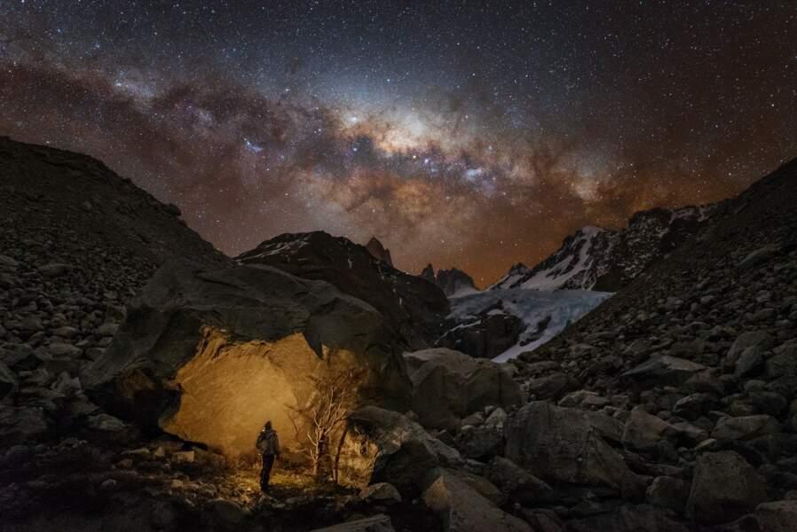 La Voie lactée observée depuis la Patagonie