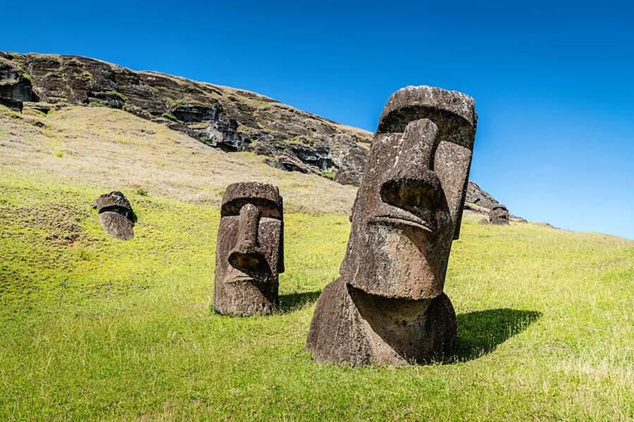 Les moaï, ces statues géantes de l'île de Pâques ont été érigées entre 1250 et 1500 après JC