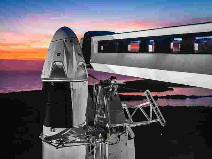 SpaceX lancera finalement sa navette Crew Dragon en mars — et ça sera un test clé pour savoir si elle peut amener des astronautes sur l'ISS en toute sécurité