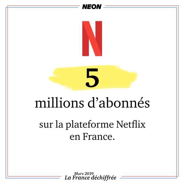 5 millions d'abonnés sur la plateforme Netflix en France