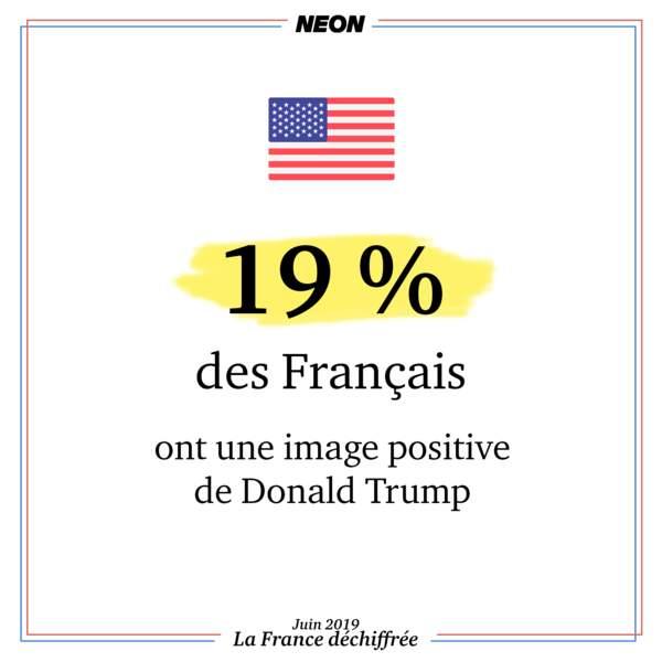 19 % des Français ont une image positive de Donald Trump
