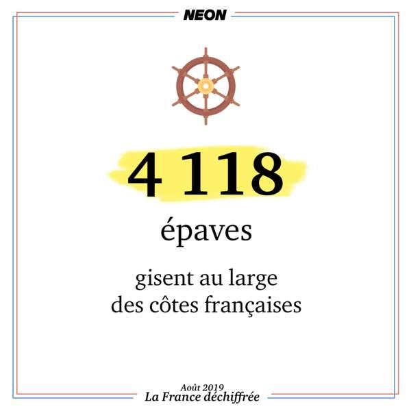 4 118 épaves gisent au large des côtes françaises