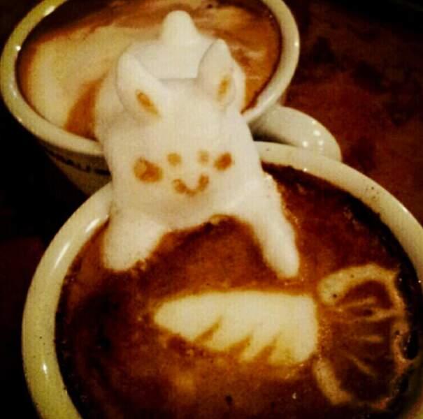 Scène de chasse au café