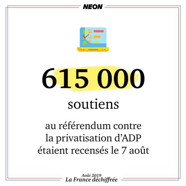 615 000 soutiens au référendum contre la privatisation d'ADP étaient recensés le 7 août