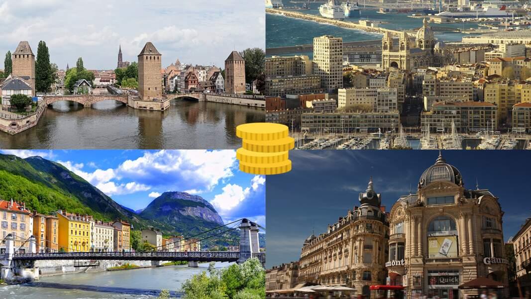 Marseille, Grenoble, Bordeaux, ... le classement de 20 grandes villes françaises en fonction de leur niveau de vie
