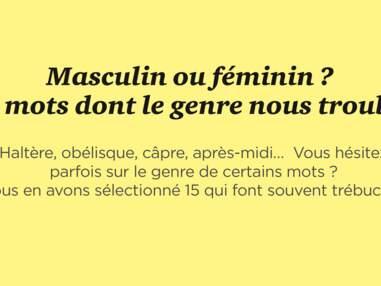 Masculin ou féminin ? 15 mots dont le genre nous trouble