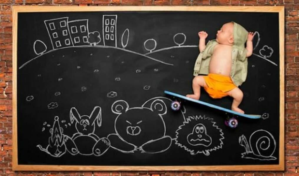 Bébé hyperactif, de l'artiste Anna Eftimie