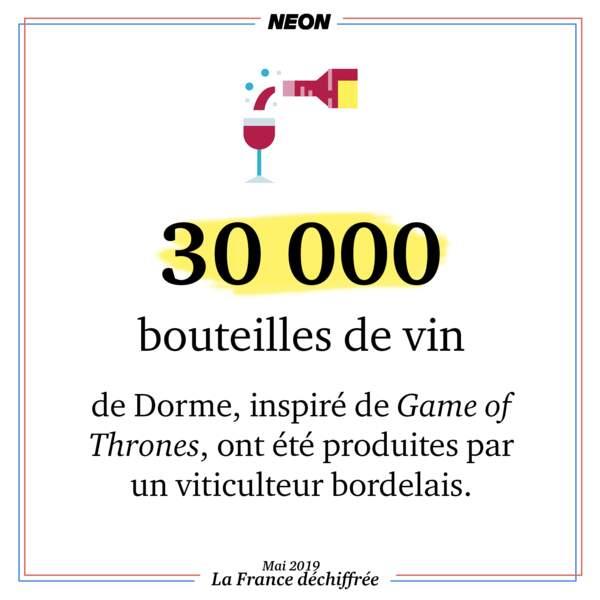 30 000 bouteilles de vin de Dorme, inspiré de Game of Thrones, ont été produites par un viticulteur bordelais