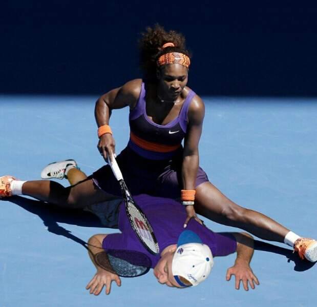 Avec Serena Williams