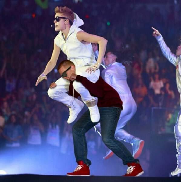 Avec Justin Bieber