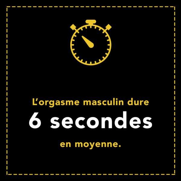 L'orgasme masculin dure 6 secondes en moyenne
