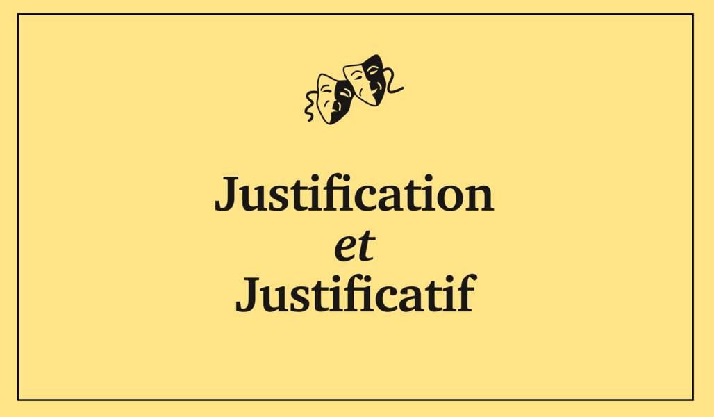 Justificatif et justification