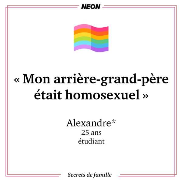 """""""Mon arrière-grand-père était homosexuel"""""""