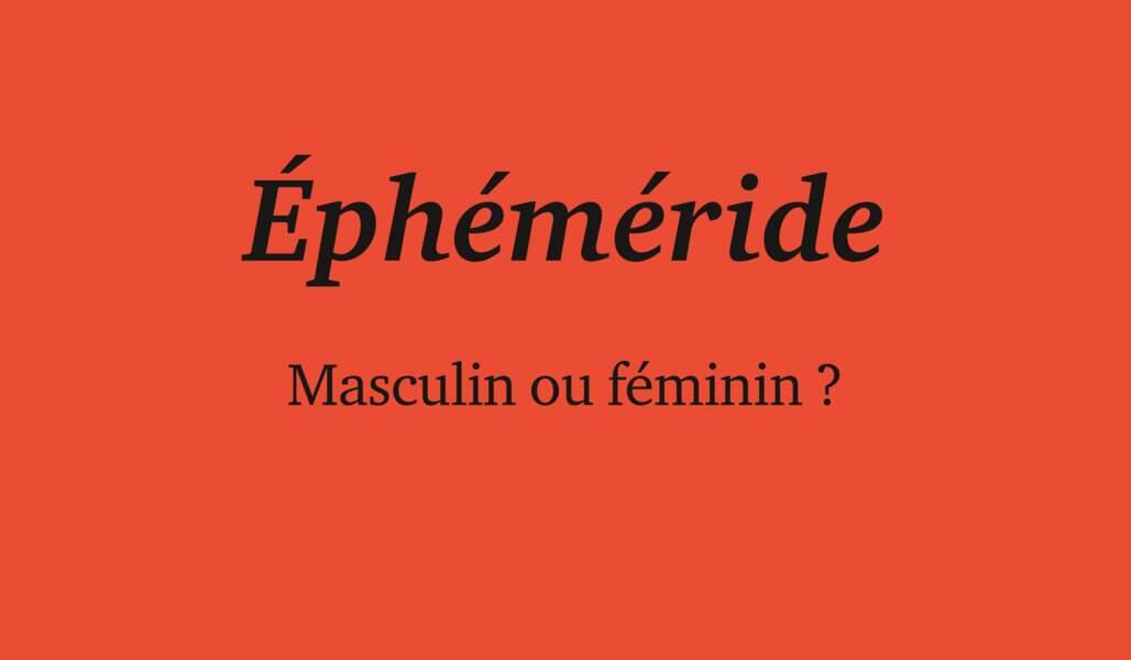 Ephéméride
