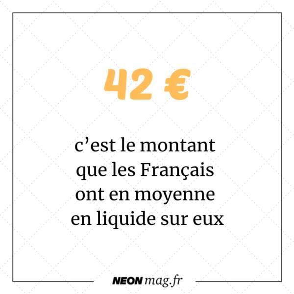 42 euros : c'est le montant que les Français ont en moyenne en liquide sur eux