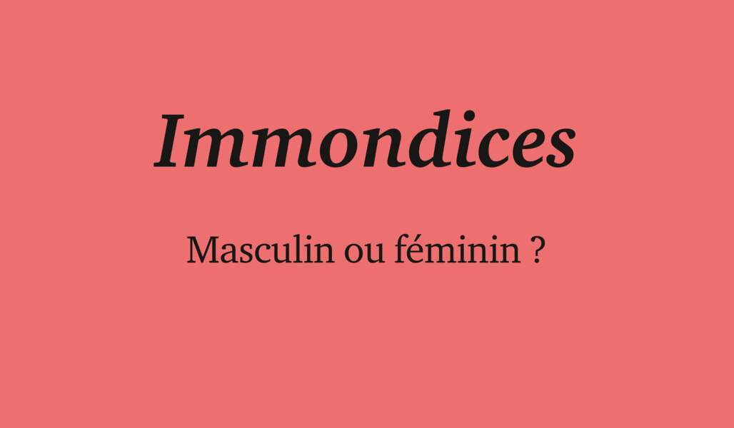Immondices
