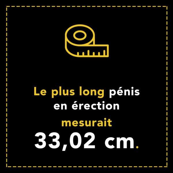 Le plus long pénis en érection faisait 33,02 cm