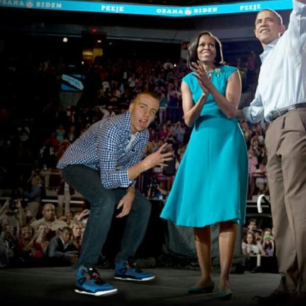 Avec Barack et Michelle Obama