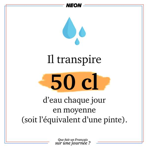 Il transpire... beaucoup.